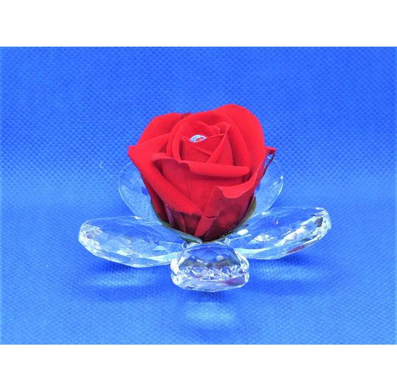 Fiore piccolo cristallo e rosa